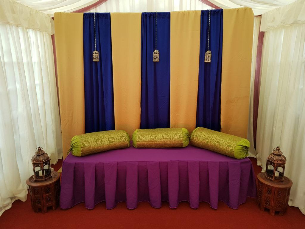 Royal Blue and Gold backdrop