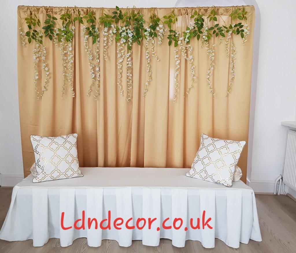 Foliage backdrop hire London