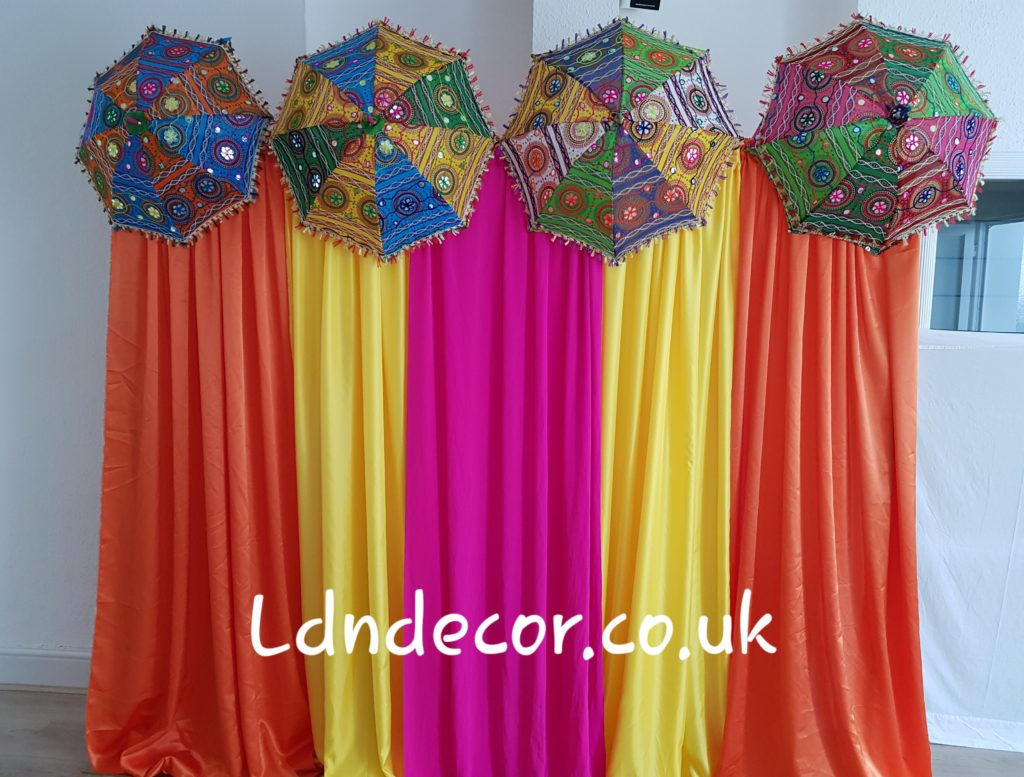 Colorful mehndi backdrop