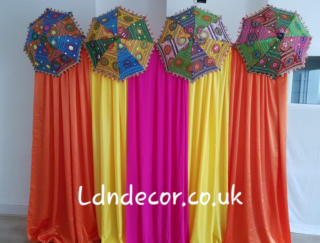 Colorful mehndi backdrop