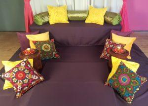 Mehndi flower cushion decor £200