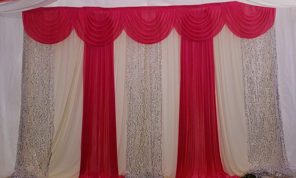 Pink cream Silver backdrop