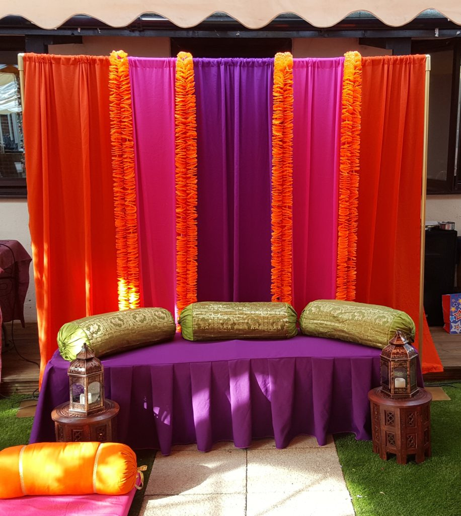 Indian backdrop decorations